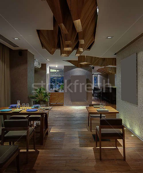 Restaurant in modern style Stock photo © bezikus