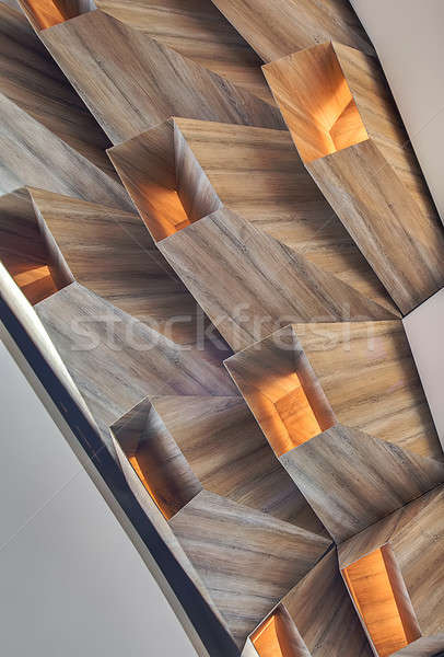 Closeup photo of geometric construction Stock photo © bezikus
