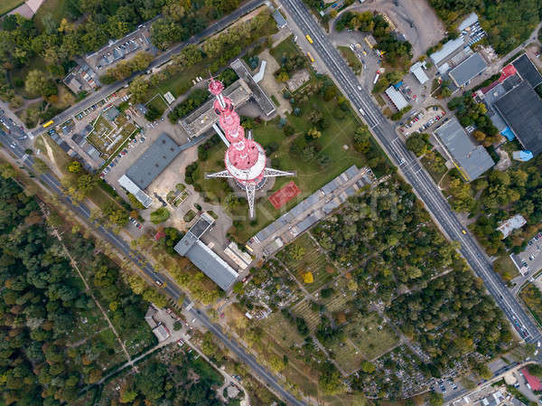 Aerial photo of cityscape Stock photo © bezikus