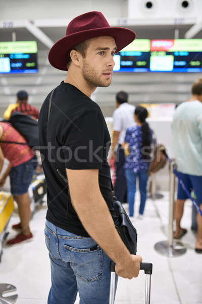 Young guy in airport Stock photo © bezikus