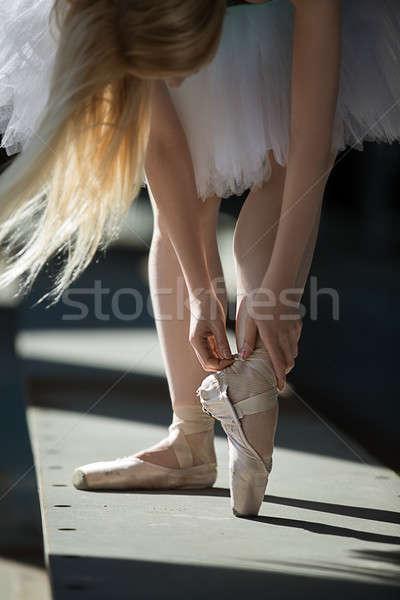 Stockfoto: Danser · schoenen · benen · ballerina · dans