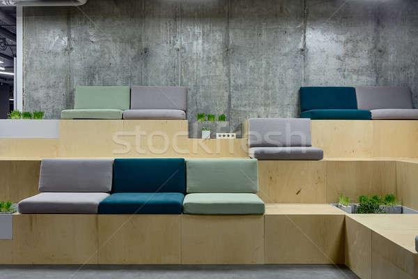 Zone with benches Stock photo © bezikus
