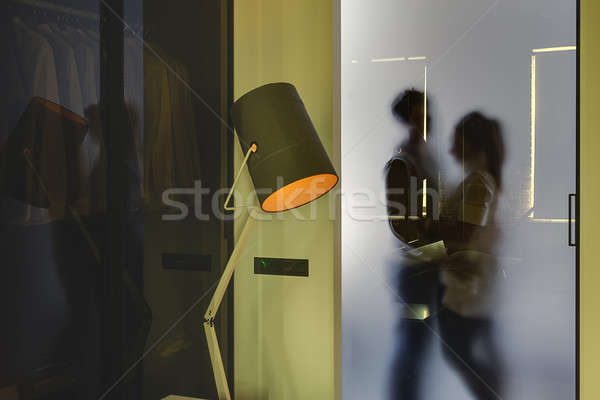 Couple's silhouette in modern style interior Stock photo © bezikus