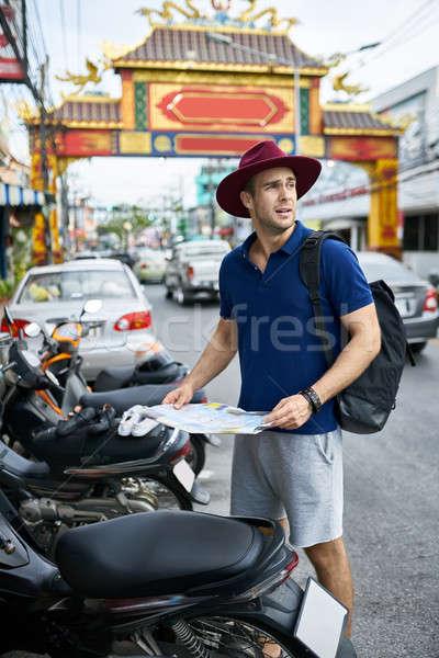 Tourist on city street Stock photo © bezikus