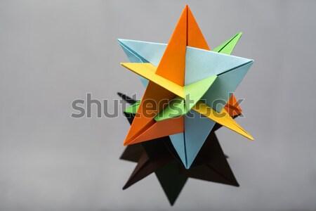 Estrellas origami estudio oscuro naranja Foto stock © bezikus