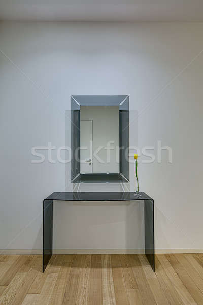 Frosted glass table with mirror Stock photo © bezikus