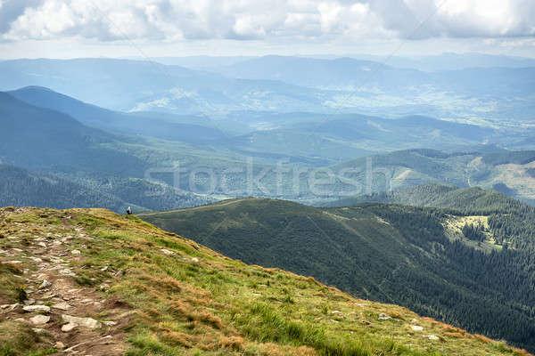 Landscape of mountains Stock photo © bezikus