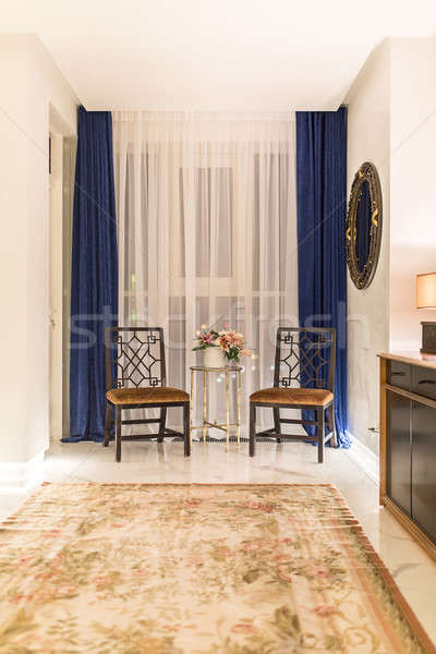 Interior estilo moderno moderna sala blanco paredes Foto stock © bezikus