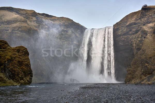 пейзаж водопада мирный Исландия вниз утес Сток-фото © bezikus