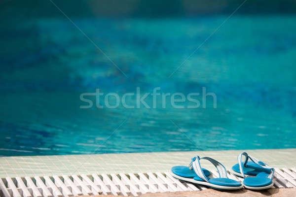 slippers near swimming pool Stock photo © bezikus