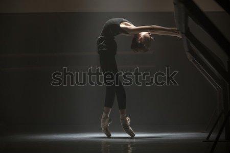 Ballerina osztály szoba csinos póz képzés Stock fotó © bezikus