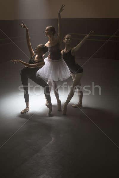 Photo stock: Ballet · danseurs · trois · belle · posant · danse