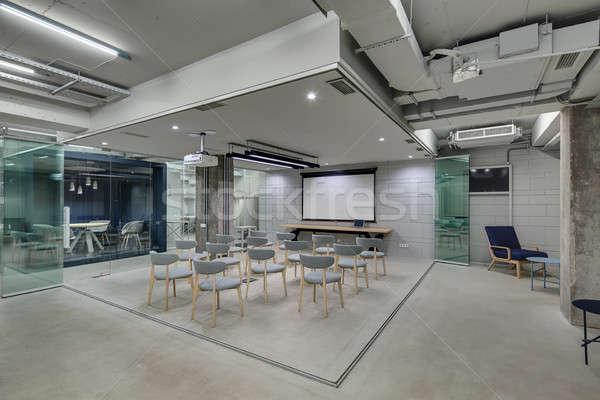 Ofis çatı katı stil sunumlar tuğla Stok fotoğraf © bezikus