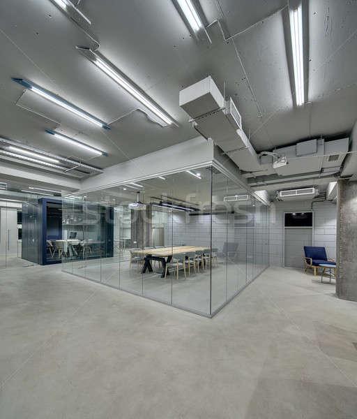 Interieur vliering stijl heldere kantoor Stockfoto © bezikus