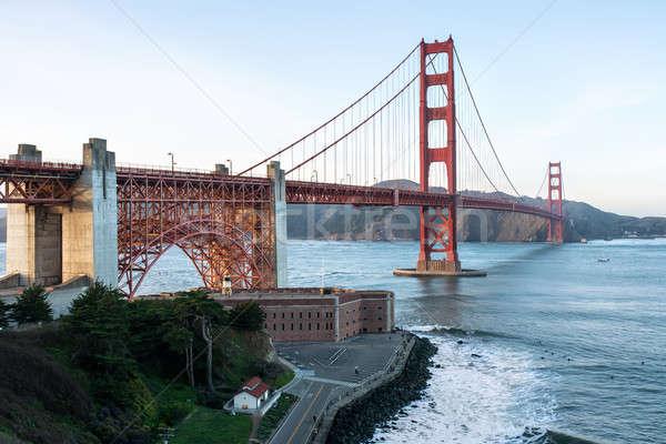 Maravilhoso cityscape Golden Gate Bridge belo ver San Francisco Foto stock © bezikus