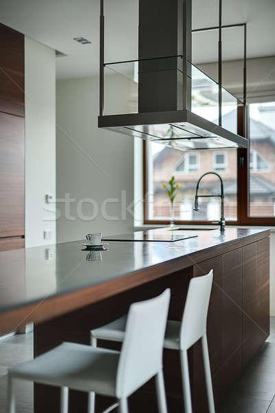 Kitchen in a cottage Stock photo © bezikus