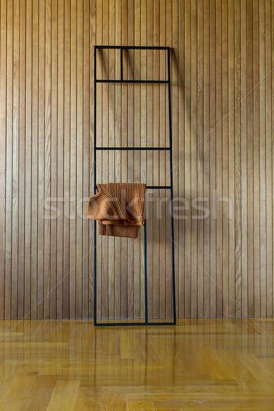 Metal stand pullover nero frame legno Foto d'archivio © bezikus