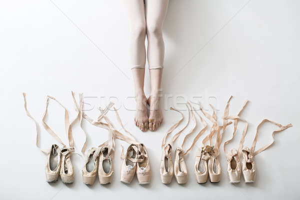 Legs of a young ballerina Stock photo © bezikus