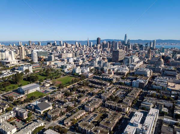 Majestueux cityscape San Francisco belle ciel bleu Californie Photo stock © bezikus