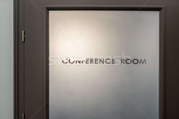 Entrance door to conference room Stock photo © bezikus