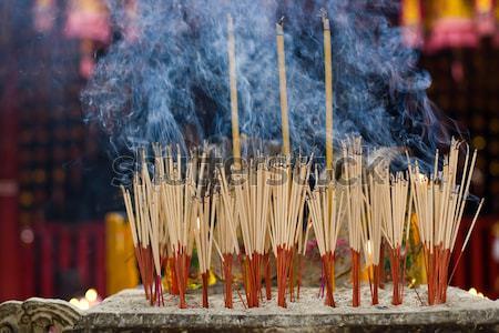 Altar templo fuego rojo color Foto stock © bezikus
