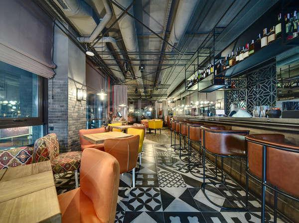 Bar mexican restauracji strych stylu Zdjęcia stock © bezikus