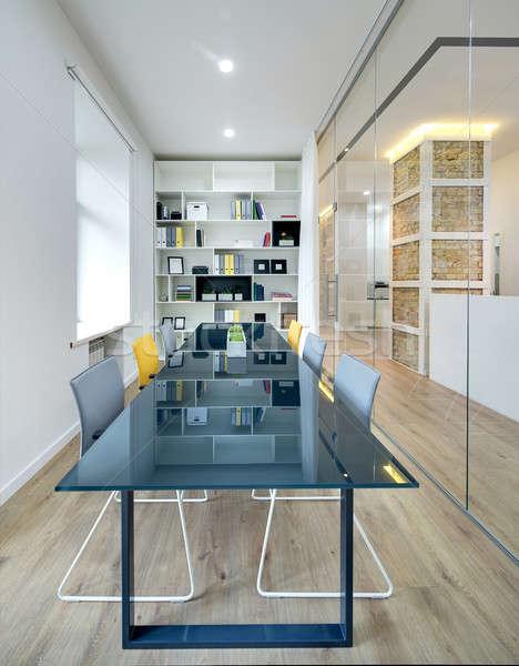 Office in modern style Stock photo © bezikus