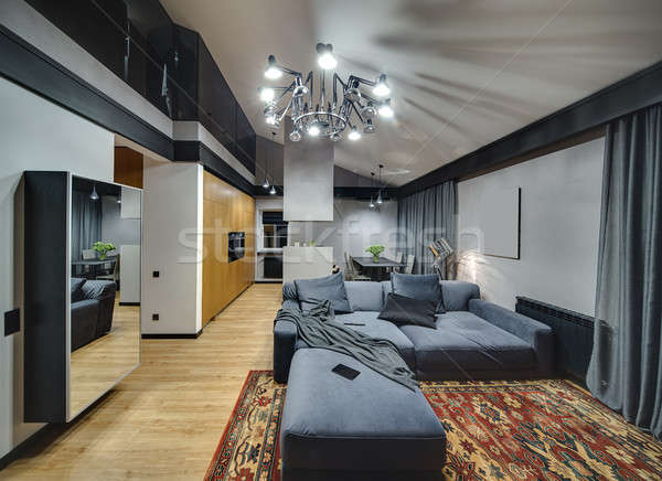 Glowing interior in modern style Stock photo © bezikus