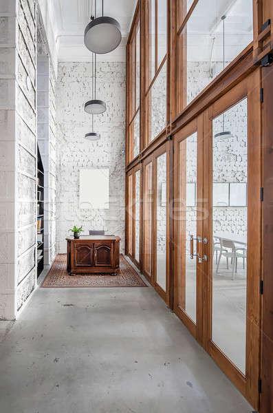 カフェ ロフト スタイル ルーム 光 みすぼらしい ストックフォト © bezikus