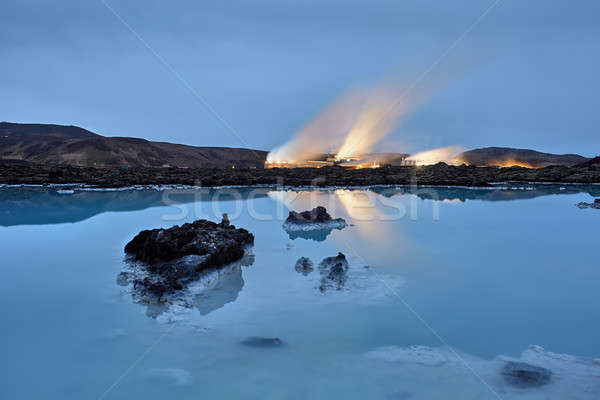 Majestic Blue Lagoon in Iceland Stock photo © bezikus