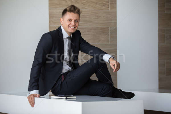 Man in a suit Stock photo © bezikus
