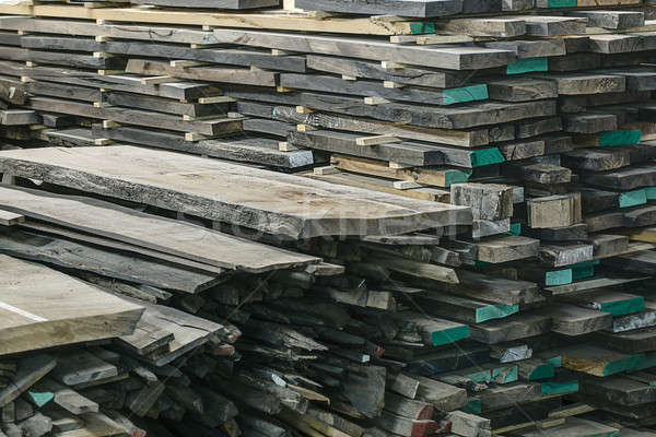 Stock photo: Wooden oak boards