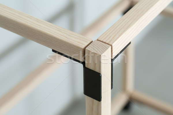 Wooden construct with metal parts Stock photo © bezikus