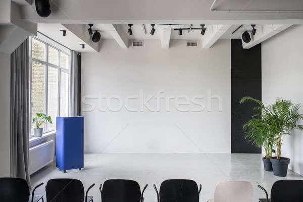 Elegante interior estilo gris paredes Foto stock © bezikus