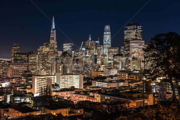 Stock photo: Night cityscape of San Francisco