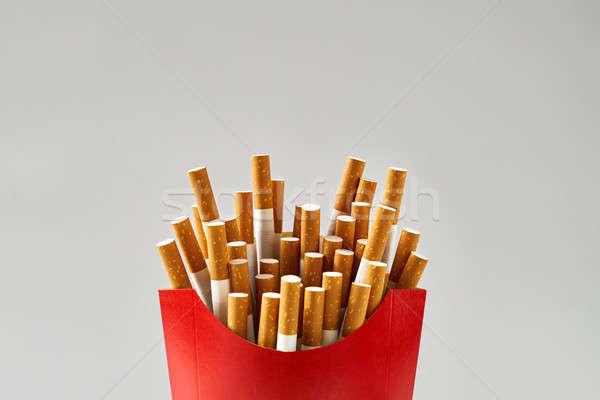 多くの タバコ 赤 カートン 孤立した スタジオ ストックフォト © bezikus