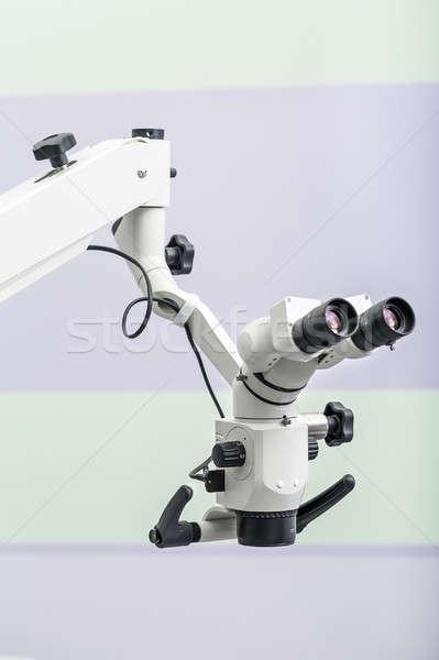 Optische tandheelkundige microscoop muur foto Stockfoto © bezikus