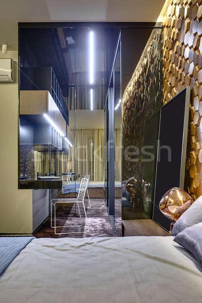 Modern style bedroom Stock photo © bezikus