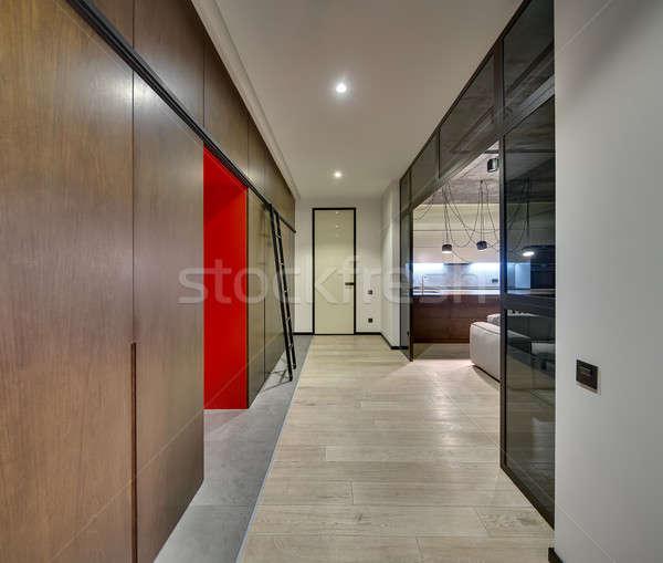 Interior estilo sala estilo moderno luz Foto stock © bezikus