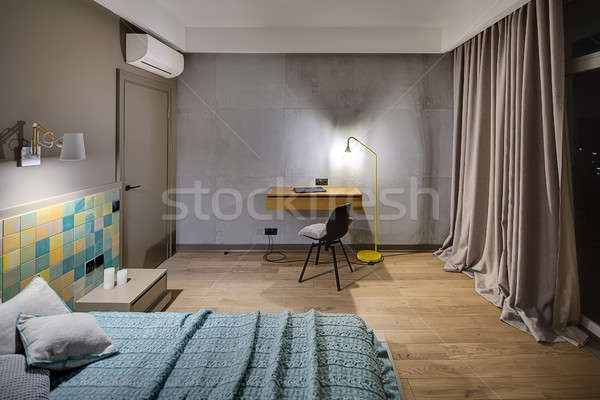 Slaapkamer · moderne · stijl · moderne · kleurrijk · tegels · muur