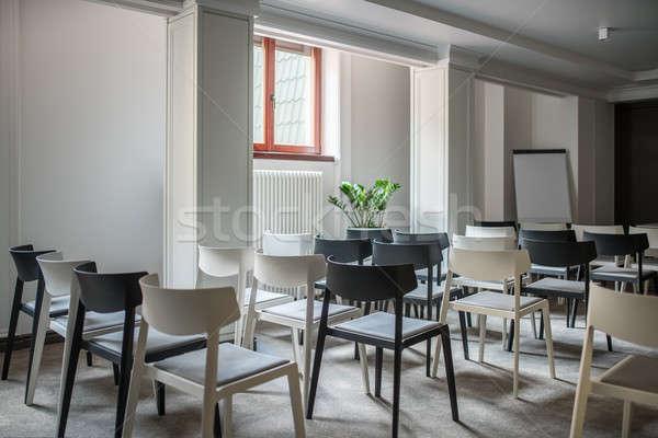 Grande conferencia sala moderna blanco paredes Foto stock © bezikus