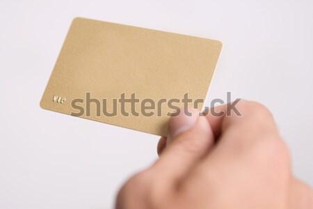 Mão vazio vip cartão carta Foto stock © bezikus