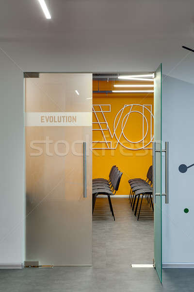 вход лекция комнату белый стены конференц-зал Сток-фото © bezikus