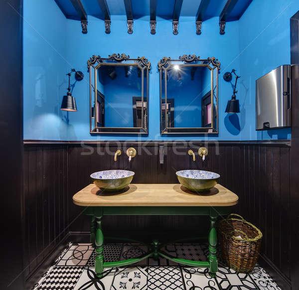 Washroom in mexican restaurant Stock photo © bezikus