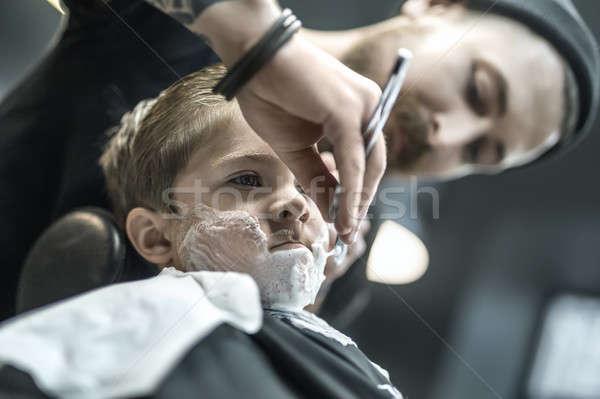 ユーモラス 少年 残忍な 子供 泡 ストックフォト © bezikus