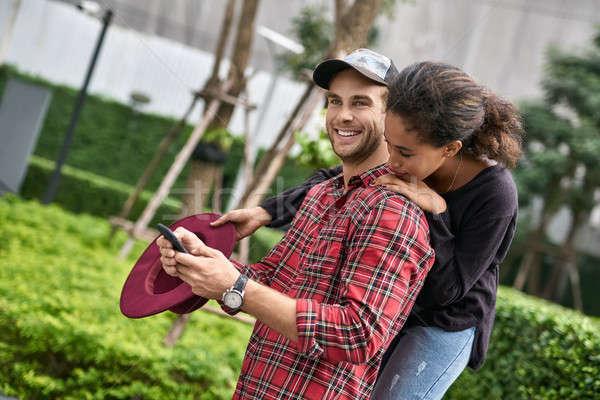 Dating of interracial couple Stock photo © bezikus