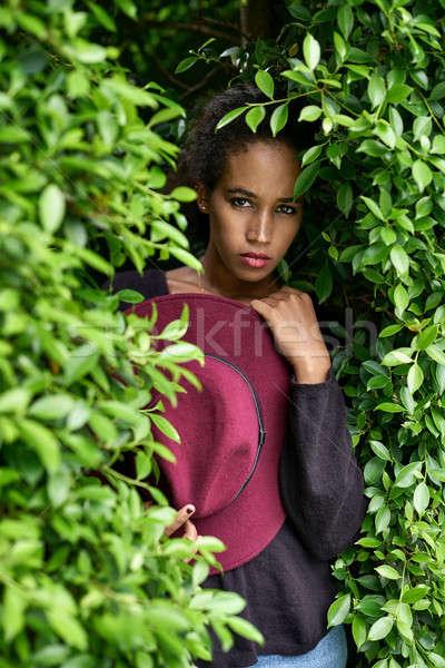 Beautiful girl posing outdoors Stock photo © bezikus