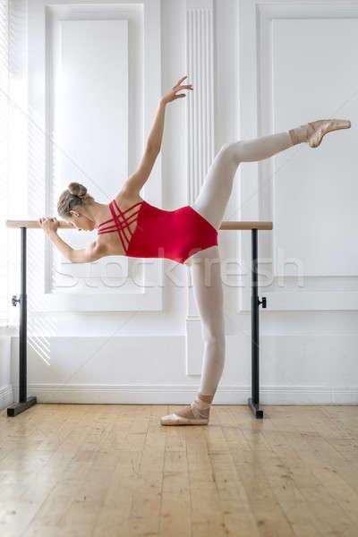 Zdjęcia stock: Baleriny · szkolenia · młodych · stwarzające · balet · strony