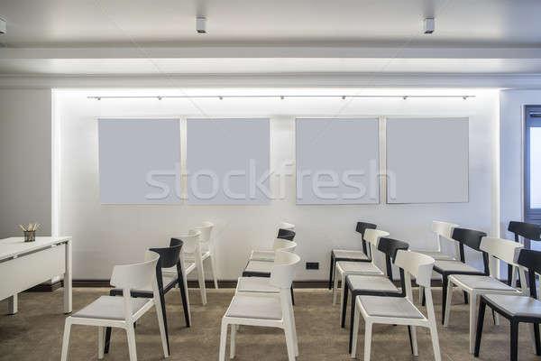 Moderno conferenza sala contemporanea bianco muri Foto d'archivio © bezikus