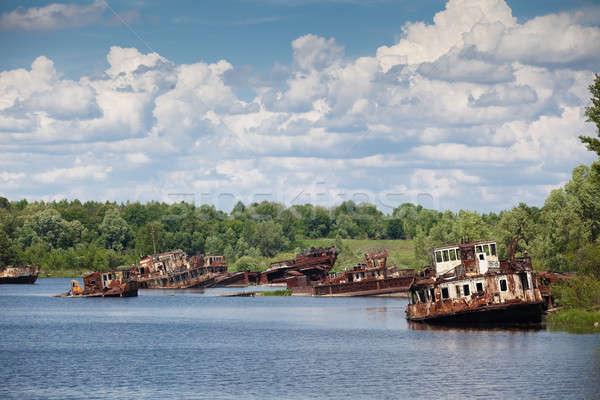 blasted rusty boats Stock photo © bezikus